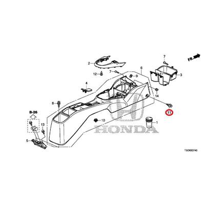 [NEW] JDM HONDA FIT HYBRID GP5 Clip, rear panel * NH167L * (NH167L graphite black) 91561-S84-A21ZB GENUINE OEM
