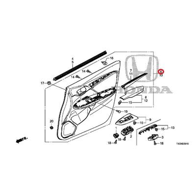[NEW] JDM HONDA FIT HYBRID GP5 Lining ASSY., R. Front door * TYPED * (TYPED) 83500-T5A-J56ZC GENUINE OEM