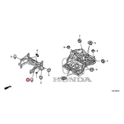 [NEW] JDM HONDA CIVIC FC1 Cushion, bonnet (25MM) 91603-SZ5-000 GENUINE OEM