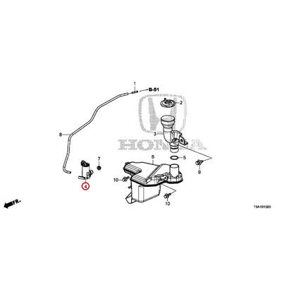 [NEW] JDM HONDA GRACE GM6 Washer motor - 1707 76806-SYP-N02 GENUINE OEM