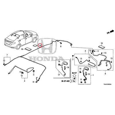 [NEW] JDM HONDA GRACE GM6 Plaster, wire harness (50X50) (Sumitomo) 91902-T6A-J01 GENUINE OEM
