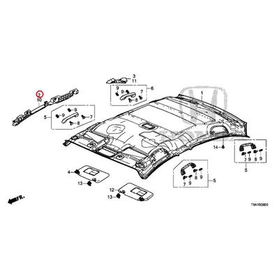 [NEW] JDM HONDA GRACE GM6 Pad, R. Front roof side 83203-T9A-T01 GENUINE OEM