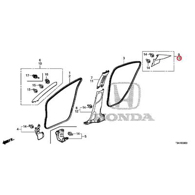 [NEW] JDM HONDA GRACE GM6 Garnish ASSY., L. Riyapira * NH882L * (NH882L Platinum Gray) 84181-T9A-T81ZB GENUINE OEM
