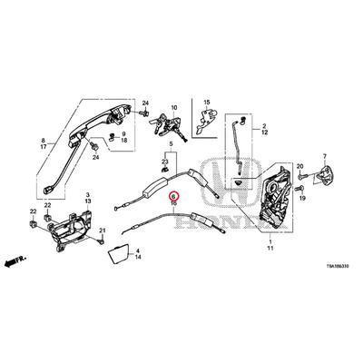 [NEW] JDM HONDA GRACE GM6 Cable, R. The front door lock 72133-T9A-T01 GENUINE OEM