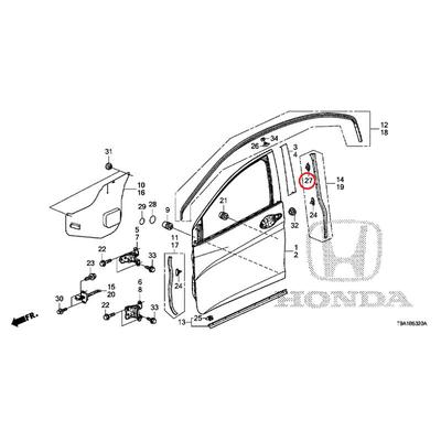[NEW] JDM HONDA GRACE GM6 Door weather strip clip 91568-SJA-003 GENUINE OEM