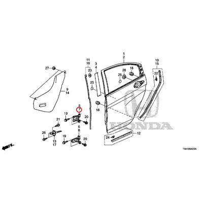 [NEW] JDM HONDA GRACE GM6 Rear door Upper hinge (L)  67950-T2M-T02ZZ GENUINE OEM