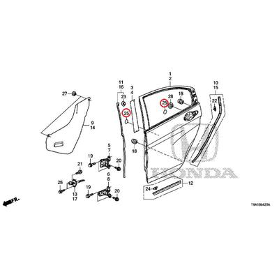 [NEW] JDM HONDA GRACE GM6 Door panel hole seal C 91657-SP0-000 GENUINE OEM
