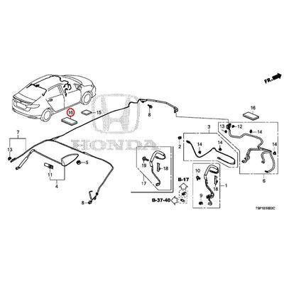 [NEW] JDM HONDA GRACE HYBRID GM4 Plaster, wire harness (50X100) (Sumitomo) 91902-T6A-J11 GENUINE OEM