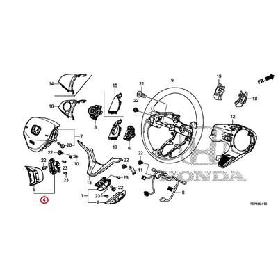 [NEW] JDM HONDA GRACE HYBRID GM4 Navigation guide & HFT switch Assy (hands-free with a telephone switch only) 35890-T5A-J01 GENUINE OEM
