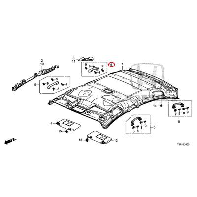 [NEW] JDM HONDA GRACE HYBRID GM4 Rail ASSY., Grab (coat hanger) * NH882L * (NH882L Platinum Gray) 83240-T5A-A11ZB GENUINE OEM