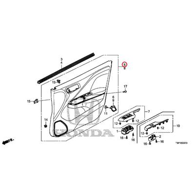 [NEW] JDM HONDA GRACE HYBRID GM4 Base COMP., R. Front door lining * NH900L * (NH900L neutral black) 83511-T9P-J22ZA GENUINE OEM
