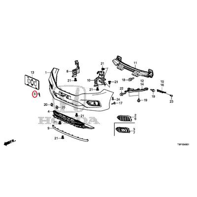 [NEW] JDM HONDA GRACE HYBRID GM4 Front towing hook cover body color code (NH788P) 71104-T9P-J10ZD GENUINE OEM