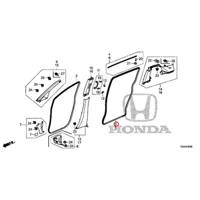 [NEW] JDM HONDA ODYSSEY RC1 Front door lower garnish Assy (L) ~ 1711 body color code (NH820P) 72810-T6A-003 GENUINE OEM