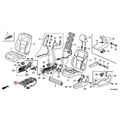 [NEW] JDM HONDA ODYSSEY RC1 Heater COMP., Front seat cushion 81134-T6A-R71 GENUINE OEM