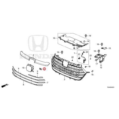 [NEW] JDM HONDA ODYSSEY RC1 Cover, front multi-view camera grill 36561-T6A-J11 GENUINE OEM