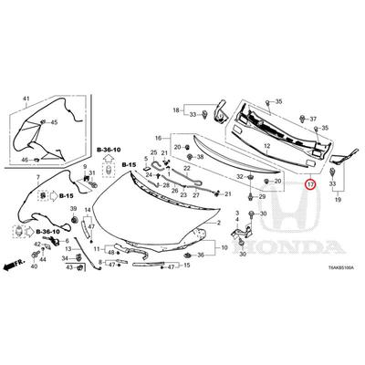 [NEW] JDM HONDA ODYSSEY RC1 Front center cowl top Assy 74210-T6A-000 GENUINE OEM