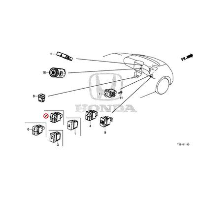 [NEW] JDM HONDA FIT GK5 Switch ASSY., VSA & auto retractable off 35300-T5A-J01 GENUINE OEM