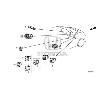 [NEW] JDM HONDA FIT GK5 Switch ASSY., Engine start and stop 35881-TG7-A02 GENUINE OEM
