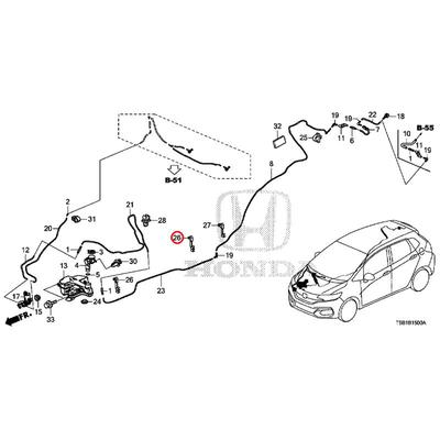 [NEW] JDM HONDA FIT GK5 Clip, washer cable 90653-T5A-003 GENUINE OEM