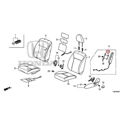 [NEW] JDM HONDA FIT GK5 Wire A, L. Front seat back air bag 81685-T5A-J01 GENUINE OEM