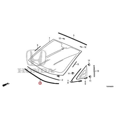 [NEW] JDM HONDA FIT GK5 Front window seal drawer molding windshield encounter with Sir 73151-T5A-J01 GENUINE OEM