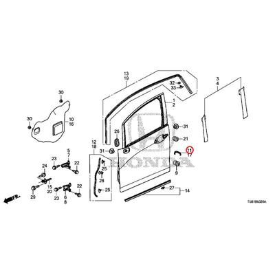 [NEW] JDM HONDA FIT GK5 Front door latch cover Assy (R) 72322-T5A-003 GENUINE OEM