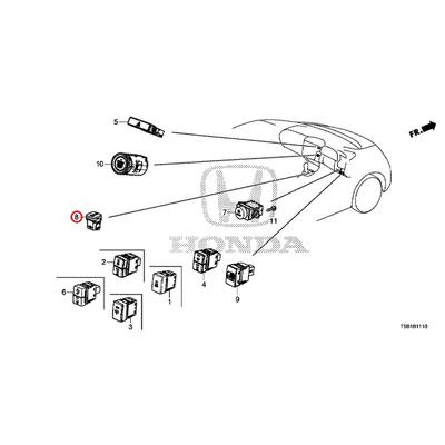 [NEW] JDM HONDA FIT GK4 Switch ASSY., The idle stop off 35580-T7S-G01 GENUINE OEM