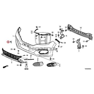 [NEW] JDM HONDA FIT GK4 Front towing hook cover body color code (NH880M) 71104-T5A-J50ZF GENUINE OEM