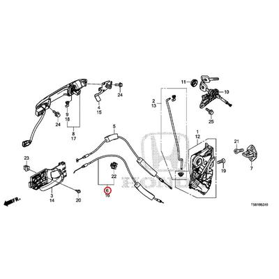 [NEW] JDM HONDA FIT GK4 Cable, R. The front door lock 72133-T5A-J01 GENUINE OEM